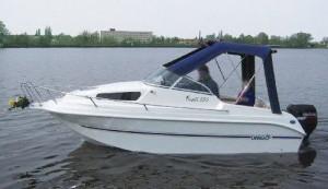 Das Drago 550 ist ein ideales Kajütboot für unsere Binnenreviere, auch führerscheinfrei fahrbar und sehr gut trailerbar.