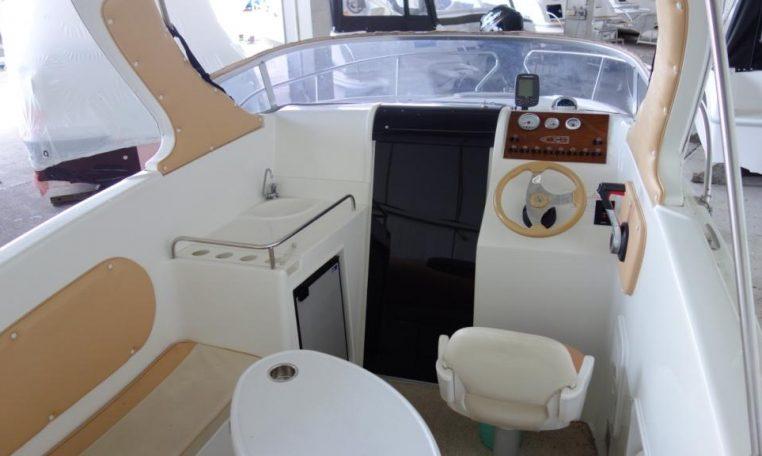 Gebrauchtboot Saver 620 Cabin mit Suzuki DF 70 | Geräumiges Kajütboot mit 2 Schlafplätzen | Schütze-Boote Berlin